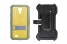 360 Full Impact Protection Rugged Case for Samsung S4 with X-Mount Holster (Army)