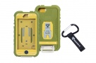 360 Full Impact Protection Rugged Case for iPhone 5 with Carabiner (Army)