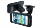 Armor Case Series - Waterproof Case for iPhone 5, 4S, Samsung Galaxy S3, S4 + Suction Cup Boat Mount + Bike/Bar Mount (Black)