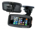 Armor Case Series - Waterproof Case for iPhone + Suction Cup Boat Mount + Bike/Bar Mount (Black)
